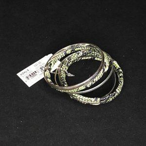 APT9 (Green) Snake and Silver Linked Bracelet